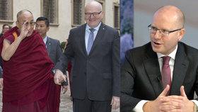 """Koho napadlo sepsat prohlášení """"čtyř"""" o Číně? Zaorálka, prozradil premiér"""