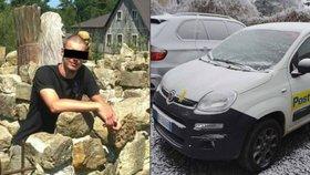 Pohřešovaný Čech: V Itálii ukradl poštovní auto a vrátil se s ním domů