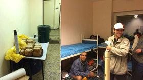 Ve 22 spát, v 5:45 budíček, deka a chléb. Tak funguje noclehárna pro bezdomovce