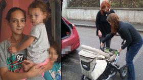 Babičkou je v 31 letech, dětí má 10: Laurinku (3 měsíce) jen nosí ...teď bude mít konečně kočárek díky čtenářům Blesku