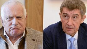 Klaus kritizuje Babiše: Hraje politické hry, nebo jeho analytici fatálně chybují