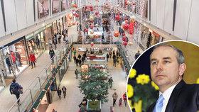 Češi první Vánoce bez supermarketů přežijí, míní Mihola a chce zavírat častěji