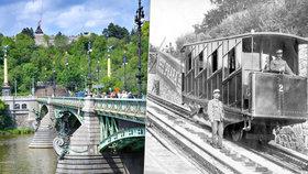 První lanovka přestala v Praze fungovat před 100 lety. Vozila lidi z nábřeží na Letnou