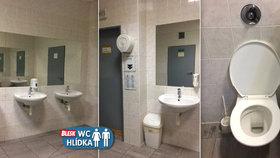 Levné záchody v Letňanech: Čisto, velké zrcadlo, ale toaleťák mimo kabinku