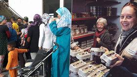 Pražská kavárnice pomáhá uprchlíkům v Řecku: Jsem hrdá, že jsem sluníčkář
