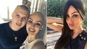Miss (28) bojuje s rakovinou dělohy: Vypadaly jí vlasy, manžel se kvůli ní také oholil