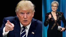 """Streepová na Zlatých glóbech """"sjela"""" Trumpa. Ten jí obratem vrátil úder"""