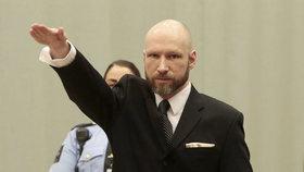 Masový vrah Breivik si stěžuje na věznici. Projednat jeho odvolání zamítli