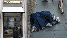McDonald's rozdá hamburgery bezdomovcům. Charitou si chce usmířit Vatikán