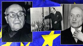 """Pan Evropa a další """"otcové"""" EU. V Bruselu po nich pojmenovali řadu budov"""