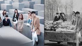 Vysmátá selfie nad hromadami mrtvol: Lidi si fotí nevkusné fotky v památníku holocaustu, umělec jim poslal drsný vzkaz