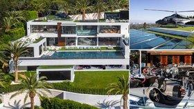 O čem sní miliardáři: Luxusní sídlo za 6 miliard má sbírku veteránů, vlastní kino i helikoptéru!