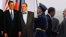 """""""Poznal mě podle knírku."""" Schwarzenberg vzpomíná na setkání s Obamou"""