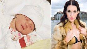 Miss Křížková v noci porodila: Fotkou se pochlubila hned po porodu