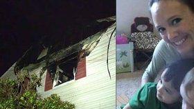 Mladá matka s dětmi beze stopy zmizela po rande naslepo: Dům lehl popelem