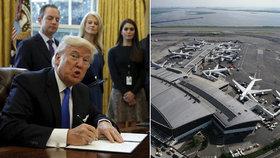 """""""Potupa muslimů,"""" bouří Írán. Trump stopl migranty, letiště zadržují cestující"""