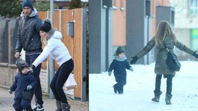 Rodinná přetvářka kvůli synovi: Ochotská s Rosolem na společné procházce!