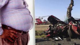 Obezita zabíjí i za volantem: Auta nejsou pro tlusté řidiče zabezpečená