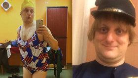 Pavlásek rozesmál fanoušky: Převlékl se za ženskou a poslal jim vzkaz!