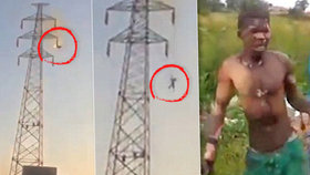 Na stožáru vysokého napětí dostal 30 000 voltů: Přežil i následovný pád na zem