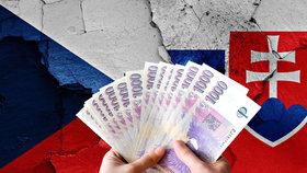"""Slováci """"nasekají dluhy"""", smázne jim je Česko. Kolik nás to stojí?"""