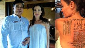 Angelinu Jolie si v Thajsku vzal do parády bývalý mnich: Záda jí potetoval buddhistickou »magií«
