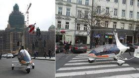 Letadlo zaparkoval na Václaváku a šel na kafe: Policisté nezasáhli