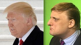 Komik Lukáš Pavlásek pobavil své fanoušky: Hraje si na Donalda Trumpa