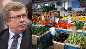 Ovoce, zelenina i maso podraží, varuje nový šéf zemědělců. Nejsme soběstační