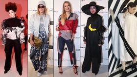 Celebrity na pražském týdnu módy: Vrabčí hnízdo, banán kolem krku a krásky v plátnech