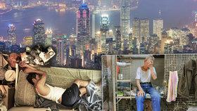 Odvrácená tvář bohatého Hongkongu: Chudí tu žijí v rakvích a klecích!