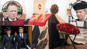 Poslední rozloučení s německým knížetem Richardem (†82): Sbohem mu dala evropská šlechta!