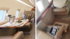 Luxusní privátní letoun sejmuly turbulence po airbusu: Takhle vypadá interiér po tříkilometrovém volném pádu