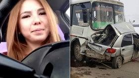 Krásná dívka (†23) vysílala živě na internetu svou smrt: Zemřela při autonehodě