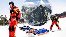 Český skialpinista padal v Tatrách 200 metrů: Utrpěl vážná zranění