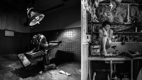 Umělec zvěčňuje nahé modelky na opuštěných místech: Najdete je všechny?