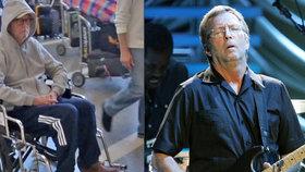 Legendární kytarista Eric Clapton skončil na vozíku! Nepoznali byste ho