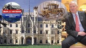 """Nejbohatší evropský šlechtic se vrátil """"domů"""": V Opavě byl teprve podruhé a zahájil výstavu z darů svého prapraprastrýce"""