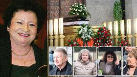 Pohřeb režisérky Polákové: Loučila se Bohdalová i Dvořák! Poslední píseň zazpíval Gott