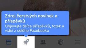 Vidíte v aplikaci Facebooku ikonu rakety? Dostali jste druhý výpis příspěvků