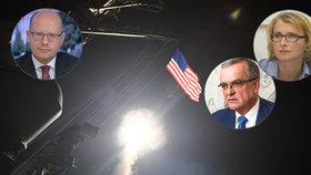 Sobotka s Kalouskem chválí americký útok na Asada, komunistka je proti