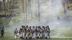 Ohlušující rány a spousta mrtvých. Na Veveří se konala vojenská přehlídka z dob Napoleona