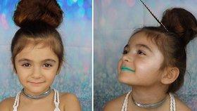 Make-up podle pětileté holčičky! Jak se vám líbí, když se maluje malé dítě?