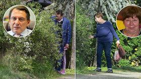 Exkluzivně! Jiří Paroubek na chalupě s exmanželkou Zuzanou. Už jsou zase rodina?