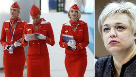 """""""Můžu za to, že mám prsa pětky?"""" Ruské letušky se soudí kvůli diskriminaci"""