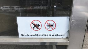 """""""Naše fasáda také nemočí na Vašeho psa!"""" Lidé bojují proti pejskařům"""