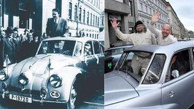 70 let od první cesty: Legendární Tatrou T87 jedou po stopách Hanzelky a Zikmunda
