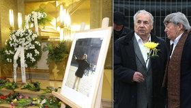 Pohřeb dramaturgyně slavné Sanitky: Dcera děkovala za dětství, smutnil i František Filip (86)