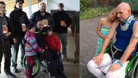 Hasič Libor skončil po pádu na vozíku: Kamarádi mu pomáhají vrátit se do života