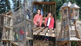 Lipno má další lákadlo: Zážitkový park uprostřed lesů vzaly děti útokem!